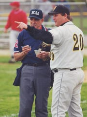 Umpire Ron Davis with former Tri-Valley head coach Terry Clark in an undated family photo.