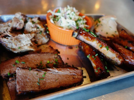 Barbecue sampler at Bootleggers Modern American Smokehouse in Scottsdale and Phoenix.