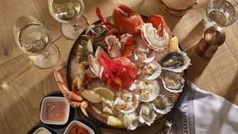 The classic steakhouse highlights Vancouver's excellent seafood in a deluxe platter piled high with local delicacies like oysters, scallops and lobster.