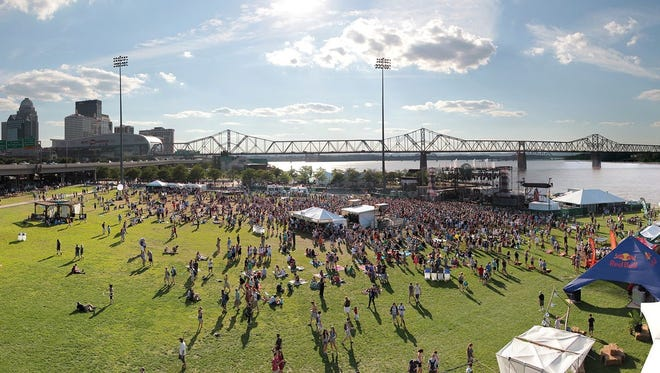 Forecastle Festival at the Louisville Waterfront Park.