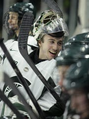 MSU goalie Jake Hildebrand