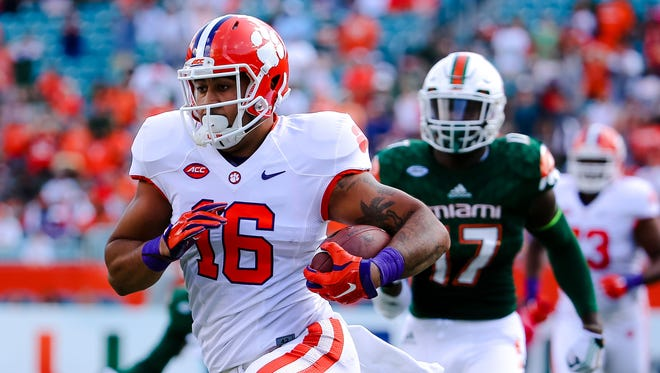 Tight end Jordan Leggett (16) and Clemson appear to be the ACC's best hope for a Playoff entrant.