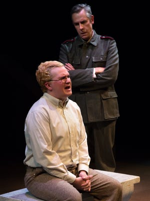 "Chase Gregory and Ted Lesley in Bunbury Theatre Company's production of ""Bonhoeffer, The Last Encounter."""