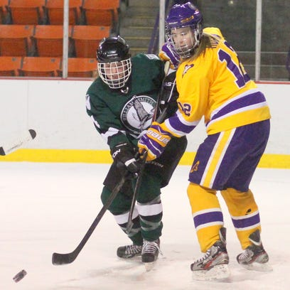 Elmira College senior forward Ashton Hogan has five goals and two assists in two games against Utica College.