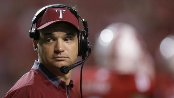 Troy coach Neal Brown will open spring practice Tuesday.