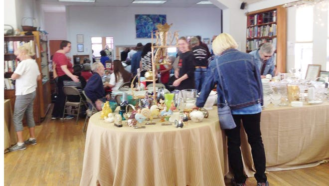 The bazaar at the Episcopal Church of the Good Shepherd on Saturday had a variety of items for sale both in the church and in the church's garage.
