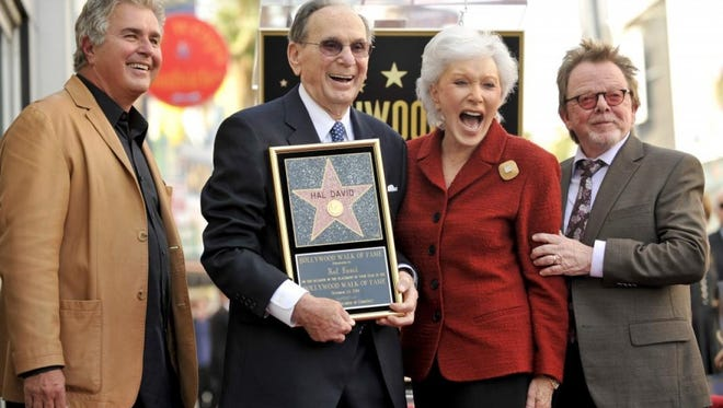 Hal David receiving Hollywood Walk of Fame star 2011. With Steve Tyrell Eunice and Paul Williams.