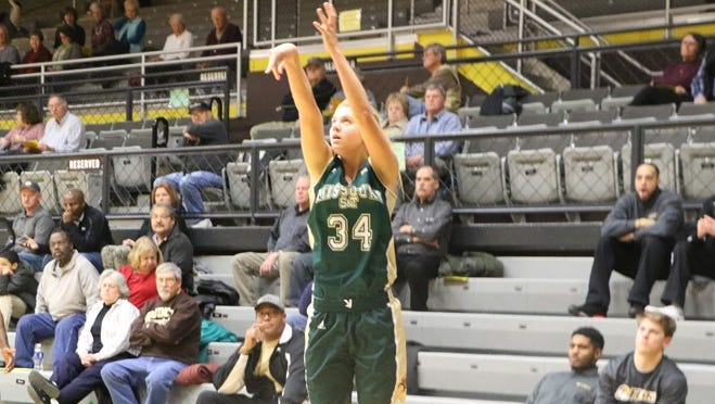 Missouri S&T freshman and Gibson Southern High graduate Maddie Raley is leading the team in 3-point field goal percentage this season.