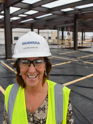 Barb Daum a project executive, on the Multi-Institutional Academic Health Science Education and Research Center, with lead contractor Skanska Thursday, February 23, 2017.