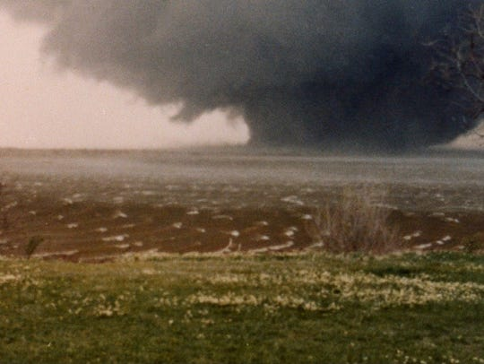 Contributed photo of one of the tornadoes on Terrible Tuesday, April 10, 1979. Last year saw the lowest number of tornado related deaths in the history of record keeping. There is expected to be a nine percent increase in tornadoes this year, especially in the traditional Tornado Alley.