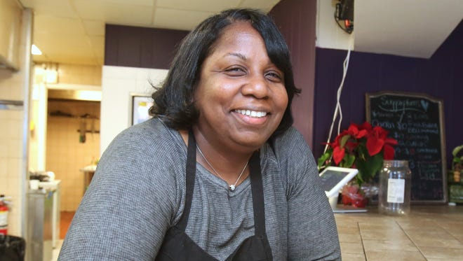 LaChonne Williams, owner of Suggar Plums restaurant in New Rochelle. Opening the restaurant was a longstanding dream for Williams, who built a following for her recipes with a lunch business she ran out of her public-housing apartment.