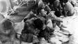 Japanese prisoners of war on board the USS Ballard