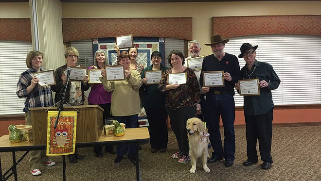The 2016 Ozarks Writers League Writing Contest first place winners.