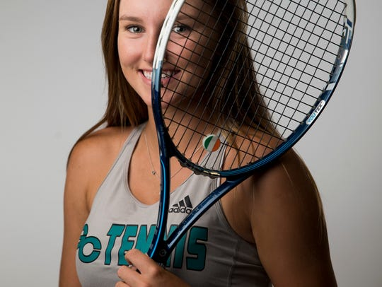 Gulf Coast tennis player Emma Heiderscheit.