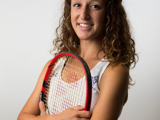 Barron Collier tennis player Amanda Ruci.