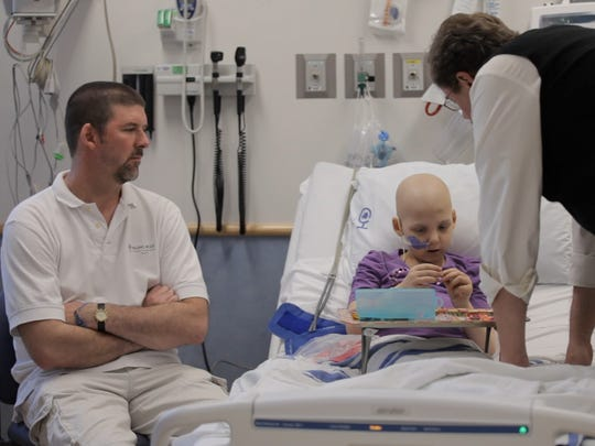 Cancer patient Emily Whitehead was hospitalized at