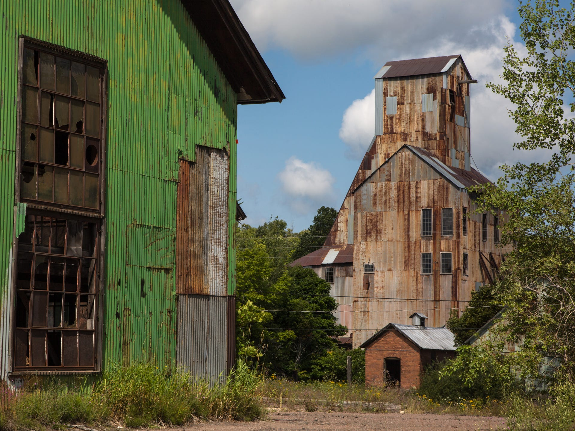 Ruins of the Champion Mine in Painesdale in Michigan's