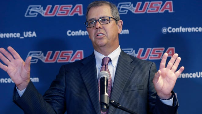 Conference USA commissioner Britton Banowsky is stepping down after 13 seasons as the head of the league.