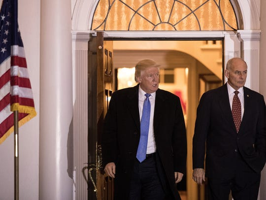 President-elect Donald Trump and retired Marine general