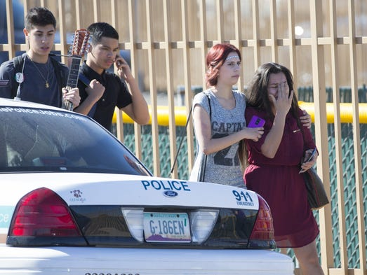 scene of school after dismissal Students at whitehall high school have been evacuated thursday after a report  police: students evacuated for third time in two weeks after.