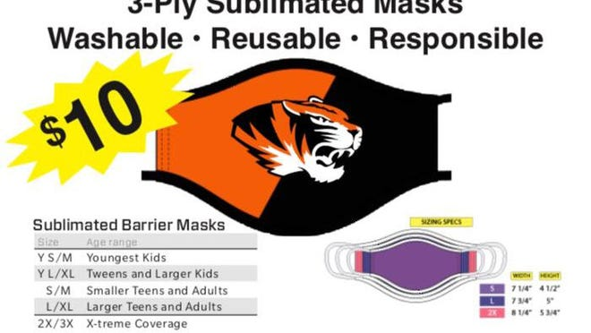 A render of the face that is part of the Kirksville boys soccer team's fundraiser.