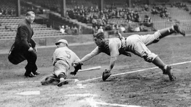 Tigers catcher Mickey Cochrane came over in 1934 and won MVP honors, while also managing.