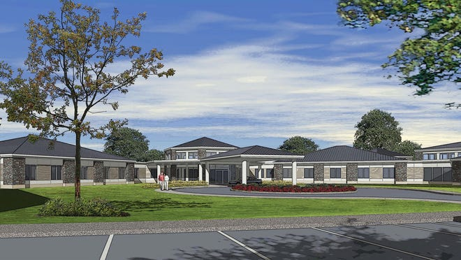 An artist's rendering of the expanded Ingham County Medical Care Facility in Okemos.