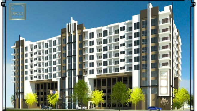 Renderings of the Silverwing Development in downtown Sparks at Victorian Square.