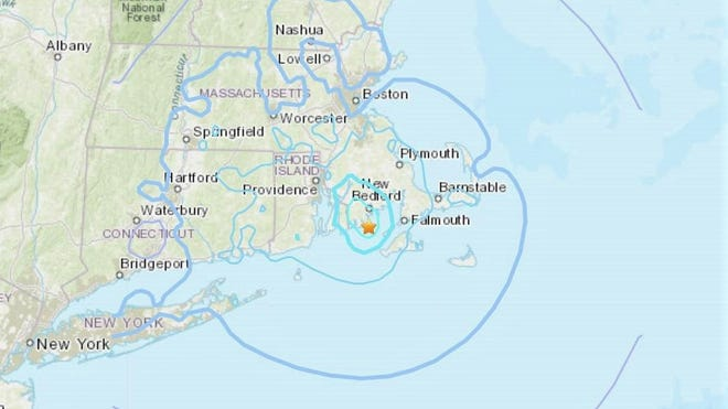 A 3.6-magnitude earthquake shook Plymouth and the rest of Southeastern Massachusetts Sunday.