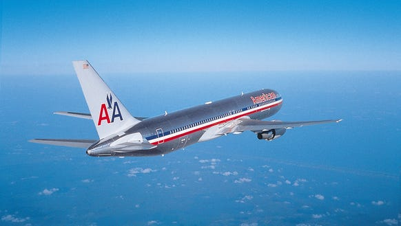 This undated file photo shows an American Airlines