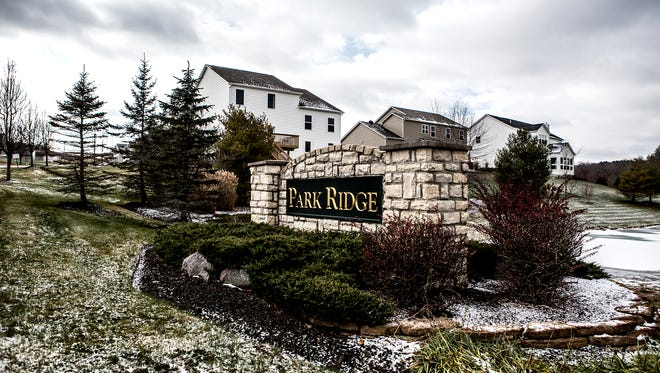 The Park Ridge housing subdivision on River Road in Newark.