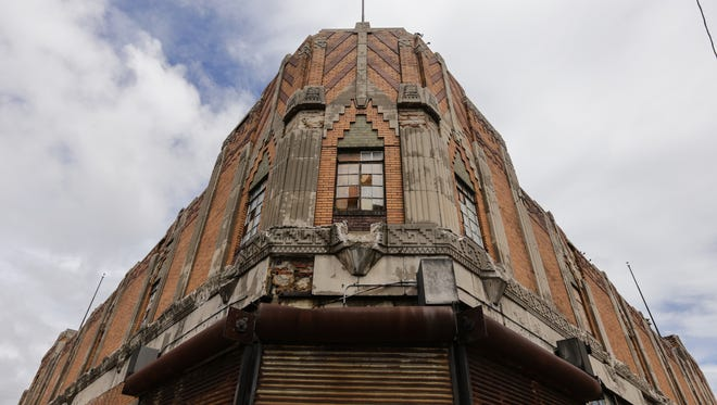 The exterior of the  Vanity Ballroom on the far east side of Detroit.