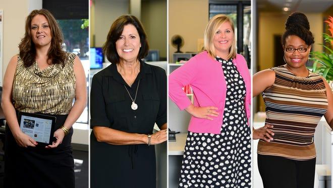Ladies of Pensacola News Journal. Left: Lisa Nellessen-Lara, Tracy Steiner, Meredith McDuffie and Marketta Davis.