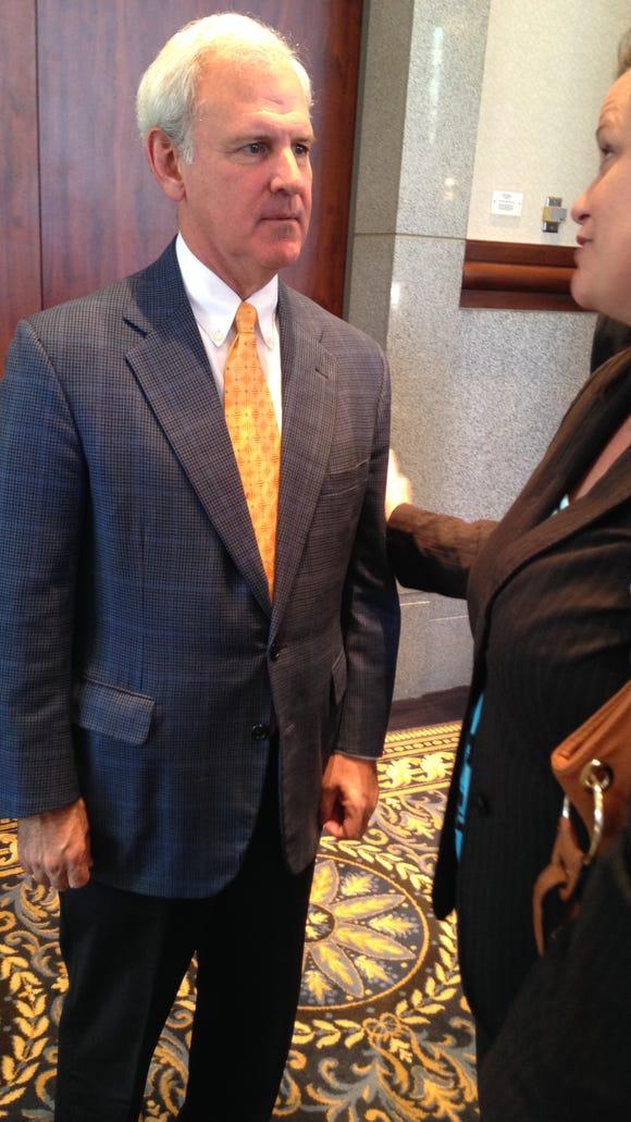 U.S. Rep. Bradley Byrne, R-Montrose, talks to well-wishers