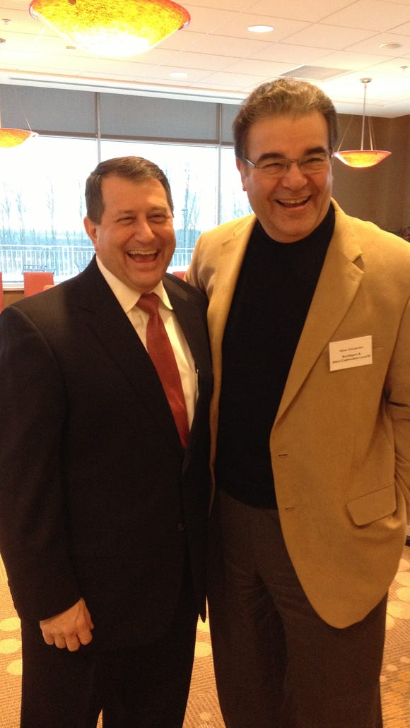 Assembly Majority Leader Joe Morelle and Gene Caccamise.