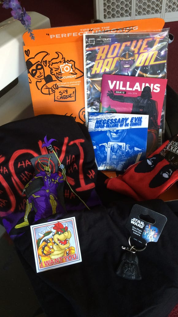 This past Loot Crate featured merchandise focused on villains.