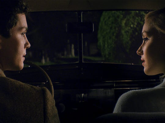 Logan Lerman and Sarah Gadon in a scene from 'Indignation.'