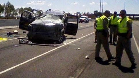 A wreck on Loop 202 killed on person and injured two, forcing authorities to close the highway on July 10, 2015.