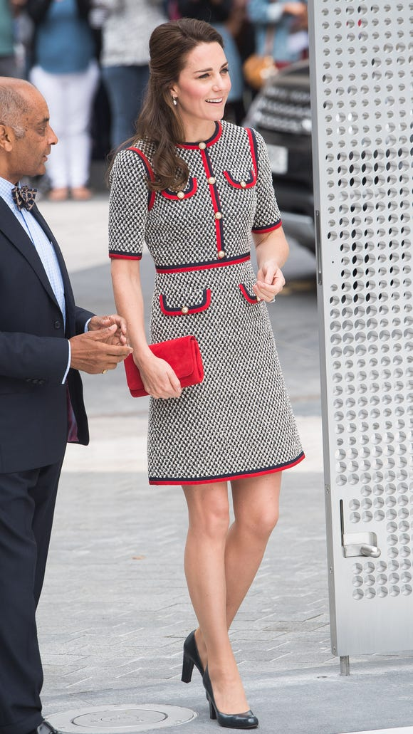 c652ec0d0a2 Duchess Kate switches things up with Gucci minidress