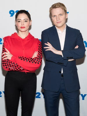 Rose McGowan and Ronan Farrow met up in person Thursday in New York to talk about her book, reality show, Harvey Weinstein, Alyssa Milano and more.