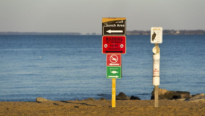 A swimming advisory is now in effect for the beach at Cape Charles.
