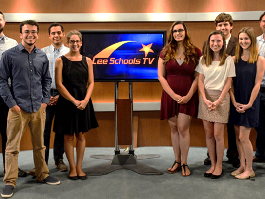 Lee TV interns, who work in the communications department