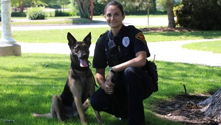 K-9 Max and Officer Anna Taylor of the Sheboygan Police Department