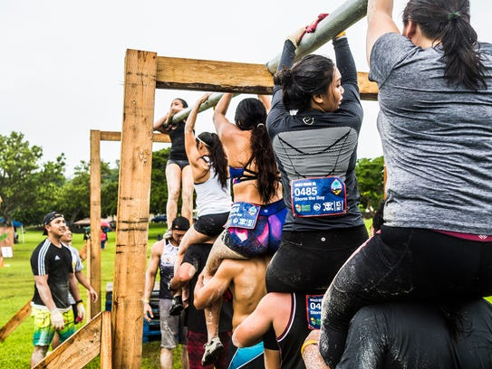 Competitors get the hang of things at the 2017 Konqer