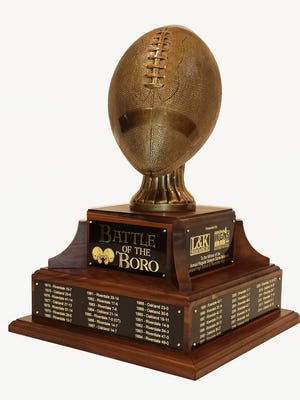 For the first time since the Battle of the 'Boro began in 1974, a trophy will be presented to the winner of tonight's Riverdale-Oakland game.