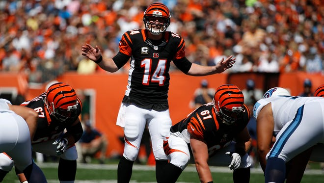 QB Andy Dalton hasn't taken a sack and only has one turnover through three games.