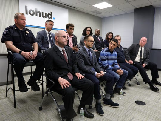 School security roundtable at The Journal News in White Plains April 25, 2018.