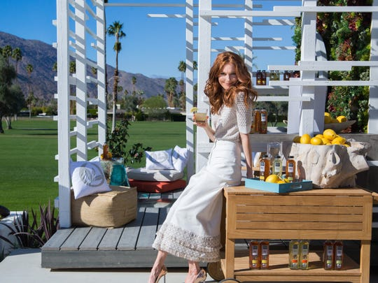 Darby Stanchfield in the Tea House designed by Christopher Kennedy for Pure Leaf Tea House Collection.