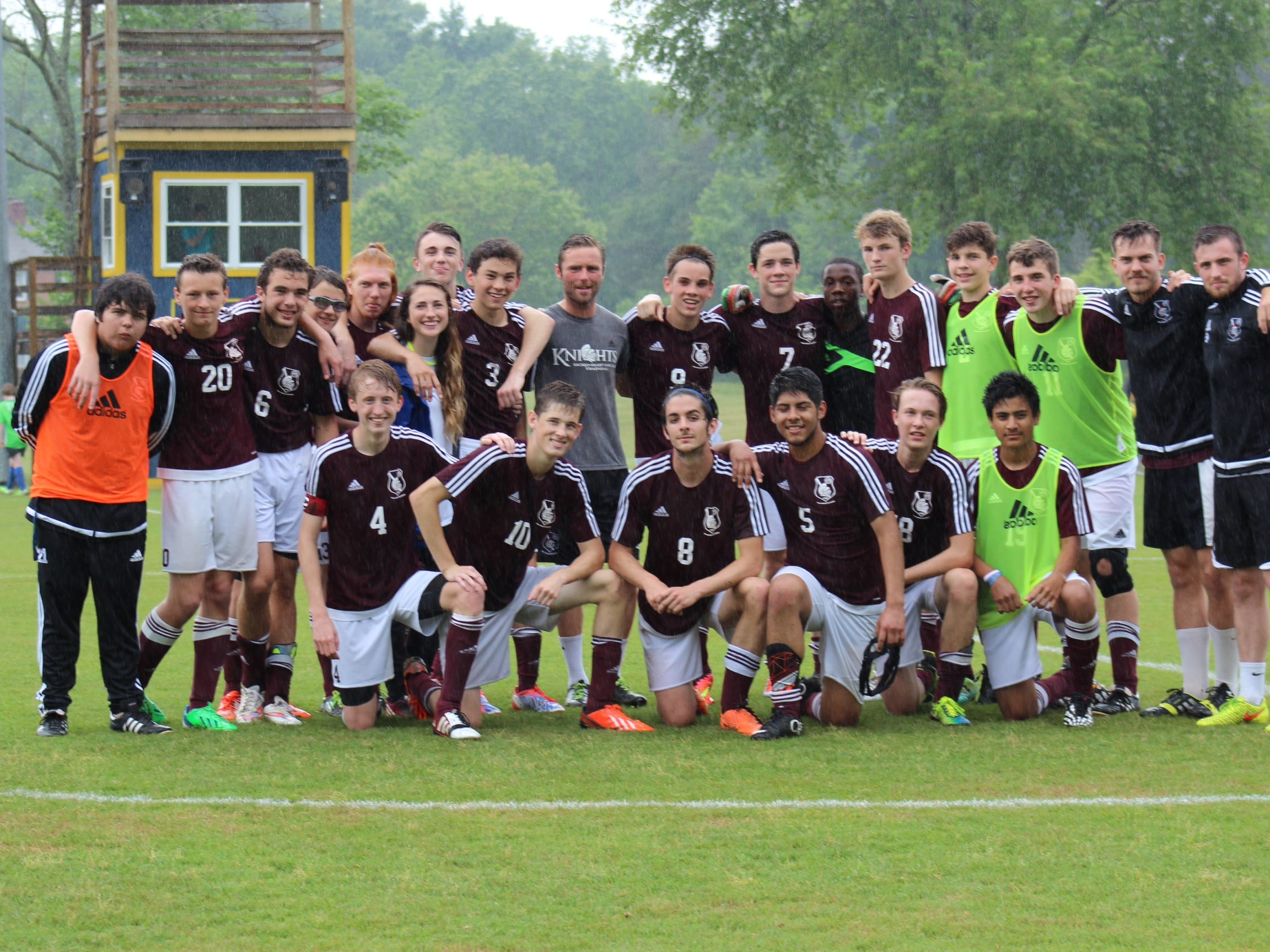 The soccer team at Sacred Heart of Jesus High is the first boys' team in school history to make it to a state tournament.