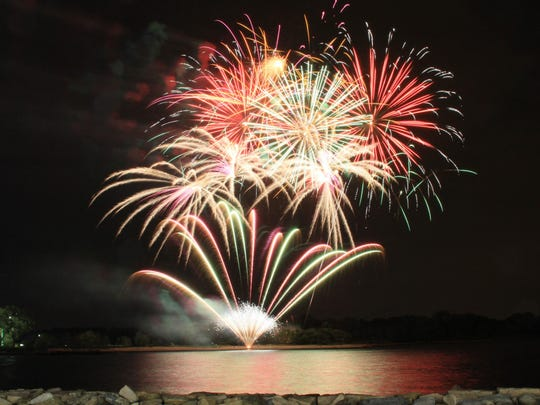 Playland fireworks display in 2010.